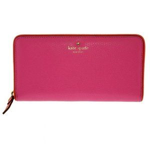 Kate Spade Pink Cobble Hill Lacey Leather Wallet